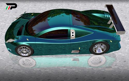 Rendering virtuale per lo studio preliminare del design della Picchio Dp2.