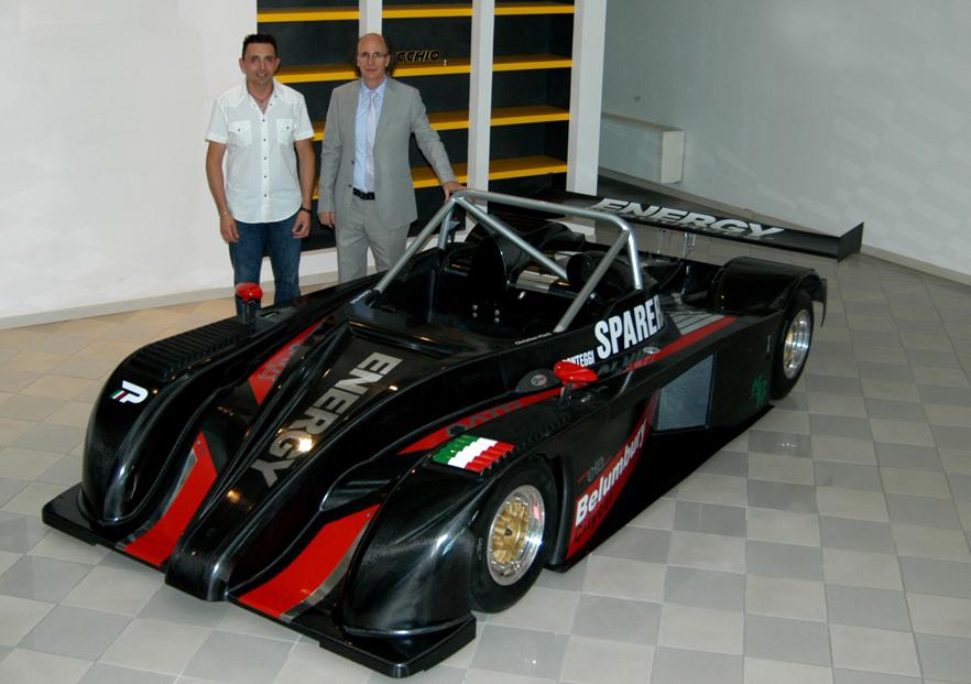 Christian Merli (pilota ufficiale) e l'Ing. Di Pietrantonio