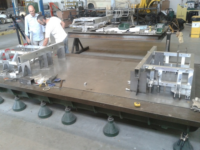 Preparation of  an aluminium platform construction for electric vehicles