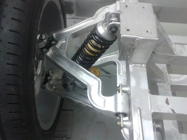 Detail of a suspension with adjustable shock absorber (Picchio construction and ownership)