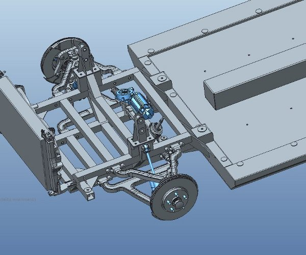 Wishbone suspension used in IBIS project